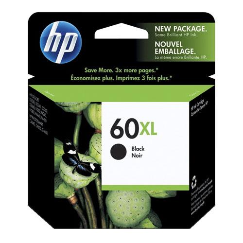 Cartouche d'encre noire 60XL de HP (CC641WN#140)