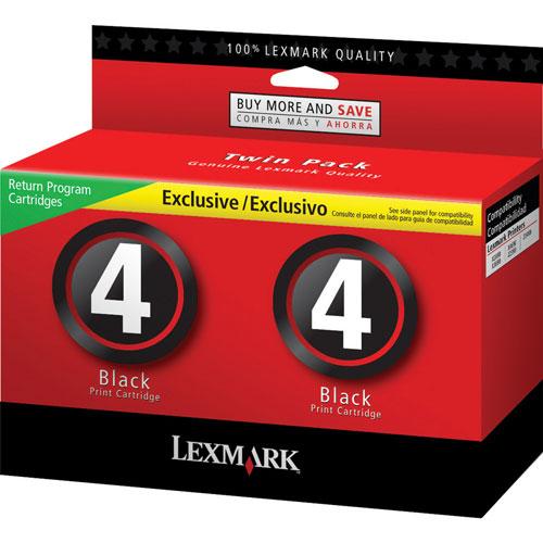 Lexmark 4 Black Ink - 2 Pack