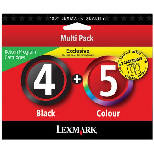 Cartouche d'encre noire/couleur 4/5 de Lexmark - Paquet de 2