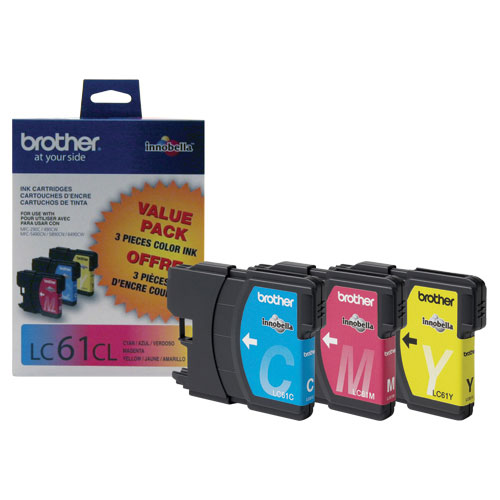 Brother LC61CL Colour Ink - 3 Pack