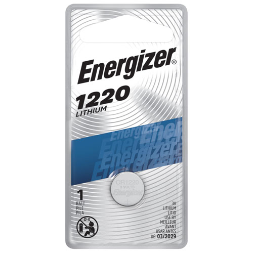Pile miniature pour montre/calculatrice d'Energizer (ECR1220BP)