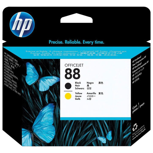 HP 88 Black/Yellow Ink (C9381A) - 2 Pack