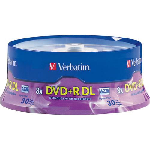 Verbatim 8X 8.5GB Double Layer DVD+R - 30 Pack