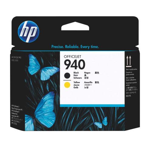 Tête d'impression noire/jaune 940 de HP (C4900A)