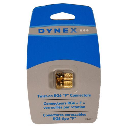 Connecteurs RG6 F vissables de Dynex (DX-AD111)