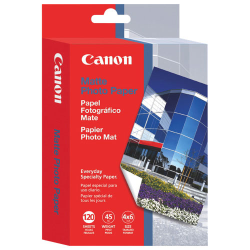 "Canon 4"" x 6"" Matte Photo Paper (MP-101) - 120 Sheets"