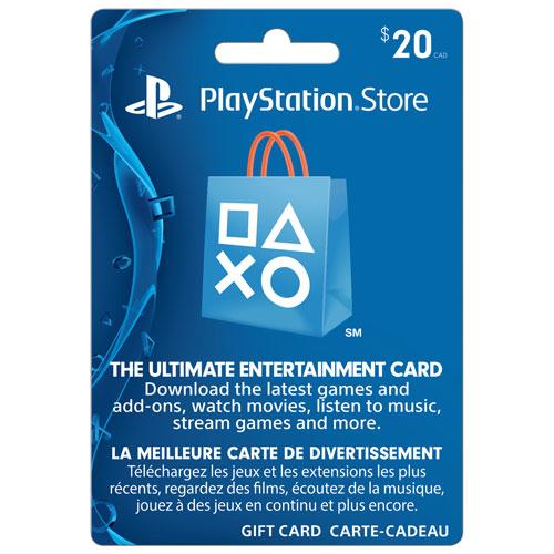 Carte PlayStation 3 de Sony prépayée de 20 $