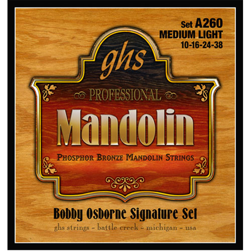 GHS .011 - .024 Gauge Mandolin Guitar Strings (A260)