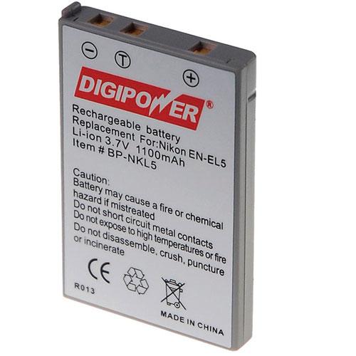 Batterie au lithium-ion de Digipower pour appareils photo numériques de Nikon (BP-NKL5)