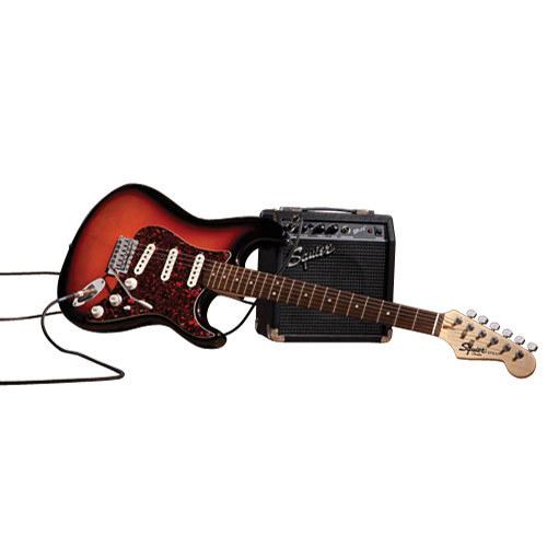 Ensemble guitare électrique Squier Start Playing Strat - Dégradé brun