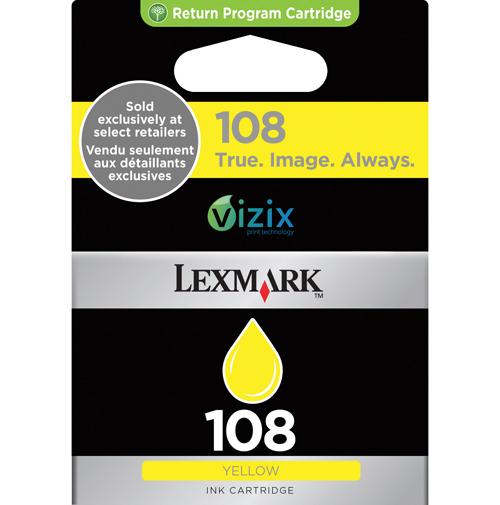 Cartouche d'encre jaune 108 de Lexmark