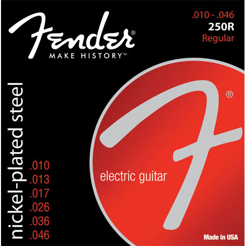 Cordes Nickel-Plated Steel 250R Ball End 10-46 de Fender