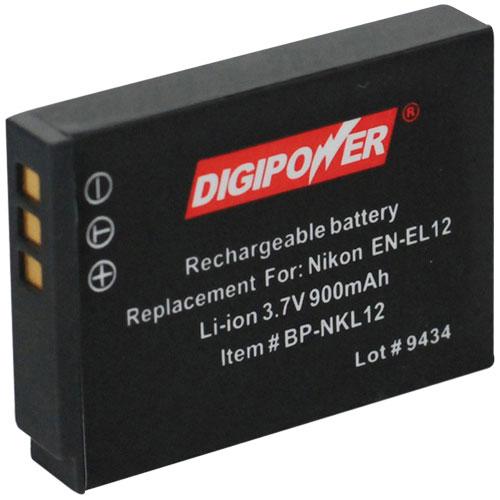 DigiPower Nikon Camera Battery Replacement (BP-NKL12)
