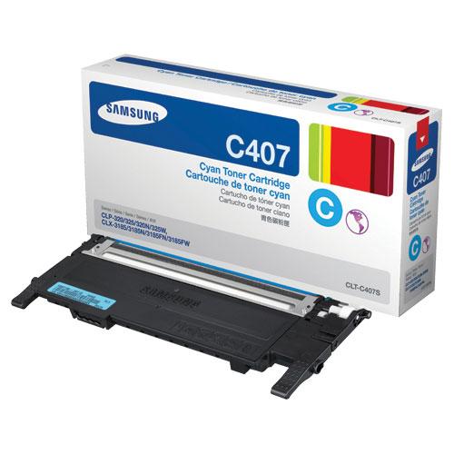 Cartouche de poudre d'encre cyan de Samsung (CLT-C407S)