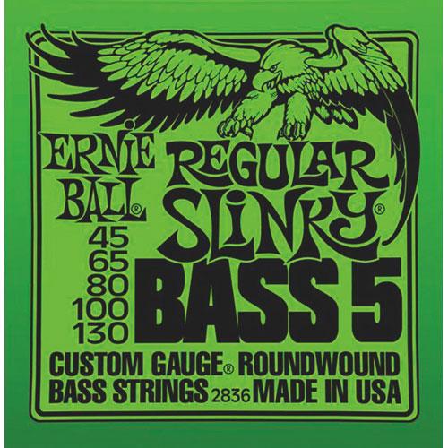 Ernie Ball 5-String Reg Slinky Guitar String (45-130) - Bass