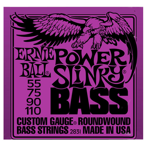 Cordes Power Slinky d'Ernie Ball (55-110 violet) - Guitare basse