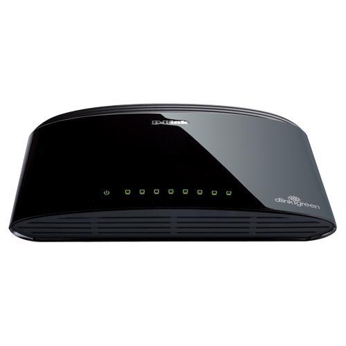 Commutateur Ethernet Gigabit de bureau à 8 ports de D-Link (DGS-1008G)