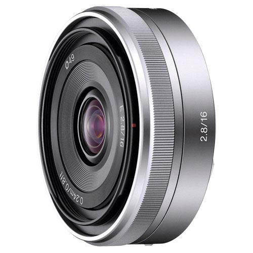 Objectif NEX de 16 mm f/2.8 de Sony