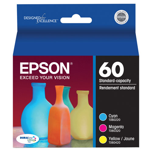 Epson T60 Cyan/Magenta/Yellow Ink Pack (T060520-S)