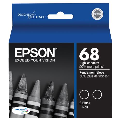 Epson Black Ink (T068120-D2) - 2 Pack