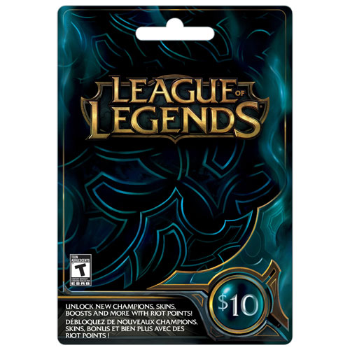 Carte League of Legends de 10 $ - En magasin seulement