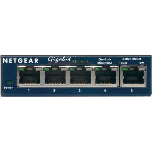 NETGEAR 5-Port Gigabit Ethernet Switch (GS105NA)
