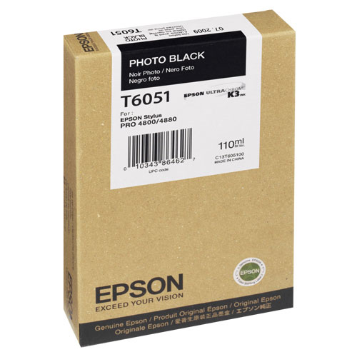 Epson Stylus Pro 4800/4880 Photo Black Ink (T605100)