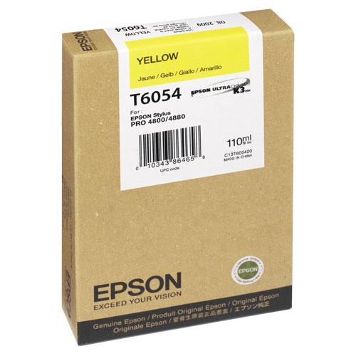 Cartouche d'encre jaune pour Stylus Pro 4800/4880 d'Epson (T605400)