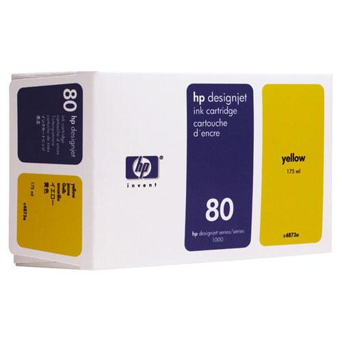 Cartouche d'encre jaune n° 80 de HP (C4873A)
