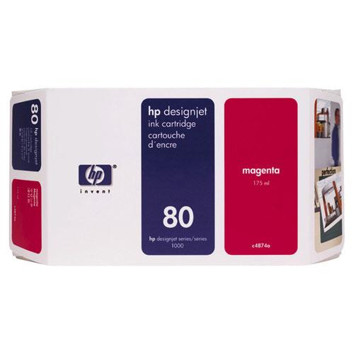 Cartouche d'encre magenta 80 de HP (C4874A)