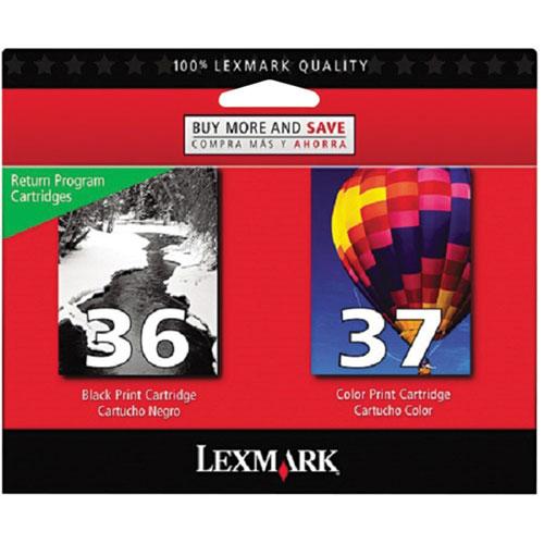 Lexmark 36/37 Black/Colour Ink - 2 Pack