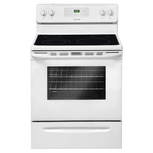 Frigidaire 5.3 Cu. Ft. Self-Clean Smooth-Top Electric Range (CFEF3018LW) - White
