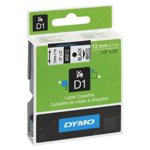 "Dymo 1/2"" Standard D1 Tape (45013)"
