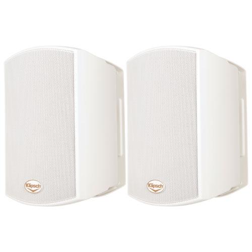 Haut-parleurs d'extérieur 50 W AW-400 résistants aux intempéries de Klipsch - Paire