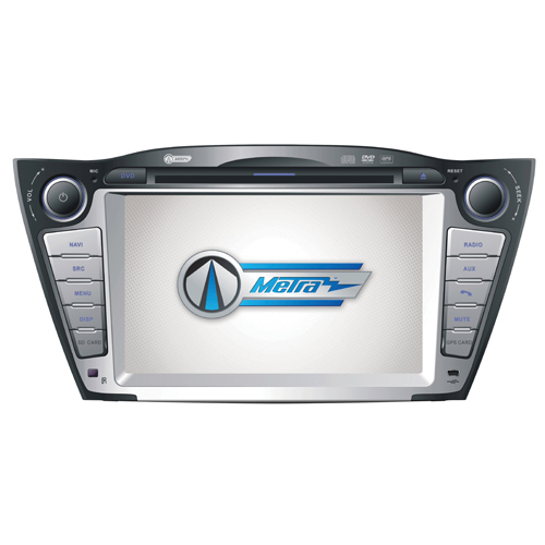 """Metra 7"""" In-Dash Double-Din Multimedia Car Deck with Amplifier Kit for 2010 & Up Hyundai Tucson"""