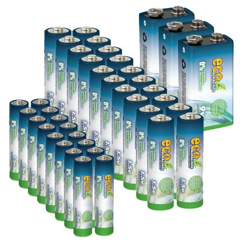 Ensemble de piles alcalines Eco (ECOWBDL2)