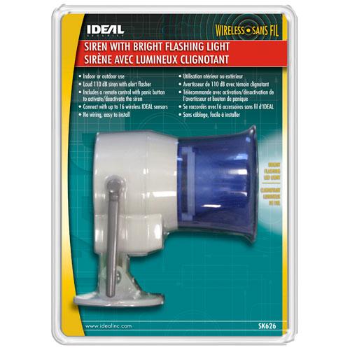 Ideal Security Wireless Indoor/Outdoor Siren with Remote (SK626)