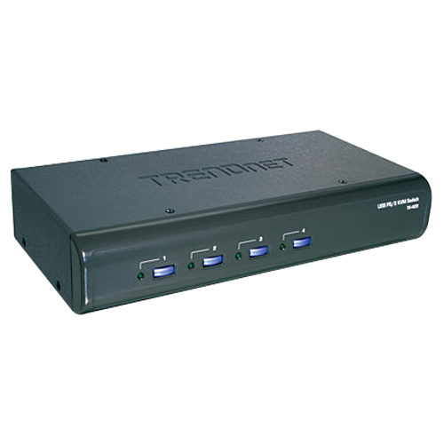 Ensemble de commutateur KVM USB/PS/2 à 4 ports de TRENDnet avec audio (TK-423K)