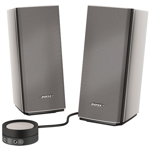 bose computer speakers. bose companion 20 multimedia speaker system - silver : computer speakers best buy canada y