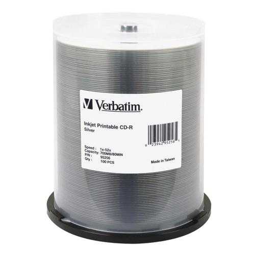 Verbatim 52X 700MB Printable CD-R - 100 Pack