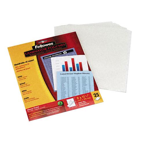 Paquet de 25 pochettes de plastification de Fellowes