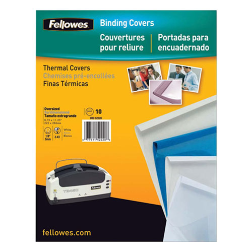 Fellowes Thermal Binding Covers 10-Pack - Black