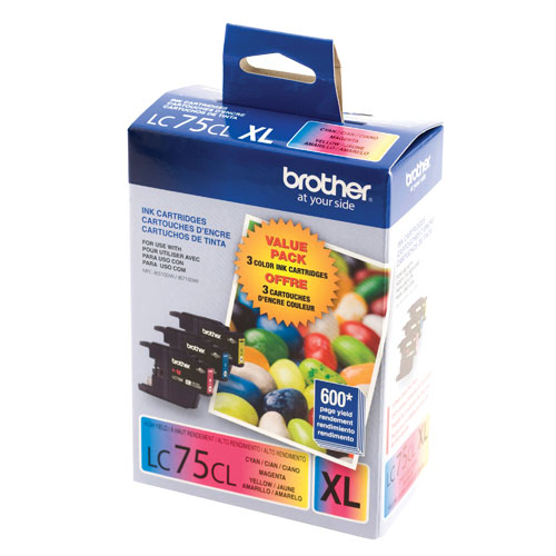 Brother LC75CL Colour Ink - 3 Pack