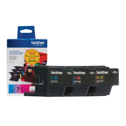 Brother LC71CL Colour Ink - 3 Pack