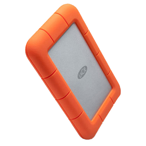 LaCie Rugged Mini 500GB External Hard Drive - Orange