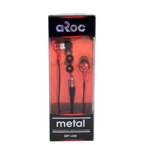 aRoc Digital Stereo In-Ear Headphones (SBP-1400) - Red