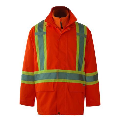 Viking Journeyman Large 3-in-1 All Season Safety Jacket (6400JO-L) - Orange