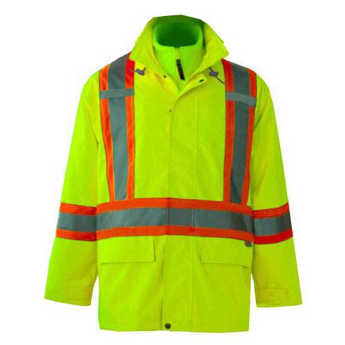Manteau de sécurité quatre saisons 3-en-1 Journeyman (TTTG) de Viking (6400JG-XXXL) - Vert