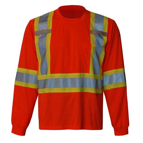Viking Long Sleeve XXL Safety Shirt (6010O-XXL) - Orange