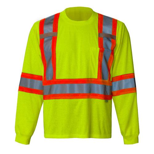 Viking Long Sleeve Small Safety Shirt (6010G-S) - Green